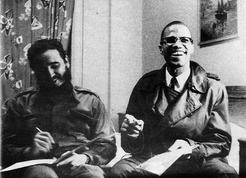 Image result for castro and malcolm x