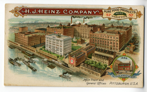 H. J. Heinz Company, Main Plant and General Offices, Pittsburgh, 1901 (via)