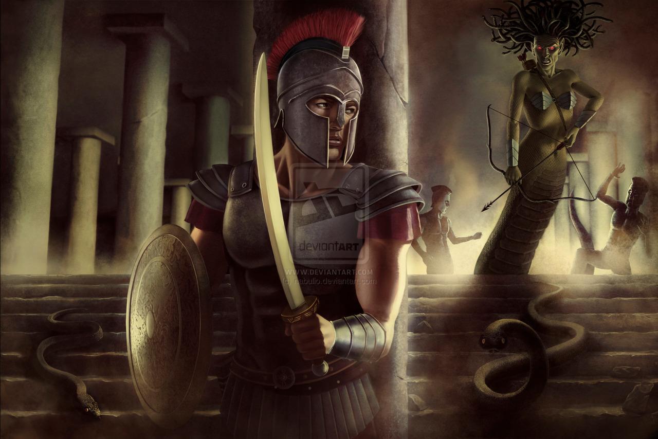 World Of Mythology Perseus Versus Medusa By Gabrielwyse