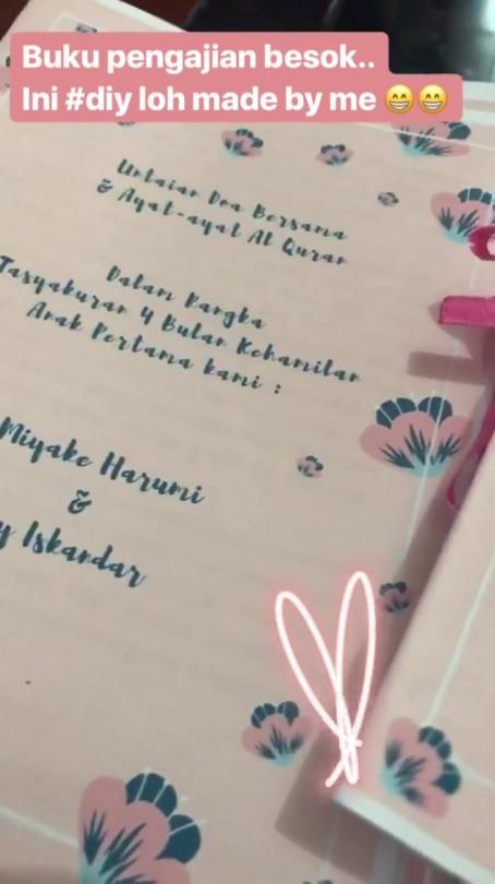 Harumiyake Diy Buku Tasyakuran 4 Bulanan Kehamilan Halo Mom