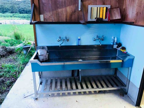 RVパークみはらしの湯の流し台