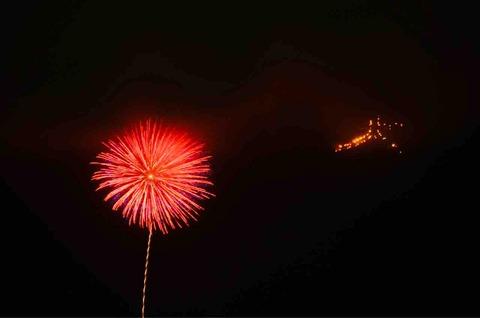 箱根強羅夏祭り大文字焼