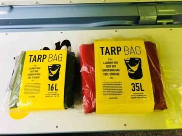 Hightide(ハイタイド)「TARP BAG(タープバッグ)」詳細レビュー【便利な折り畳み防水バッグ(バケツ)】