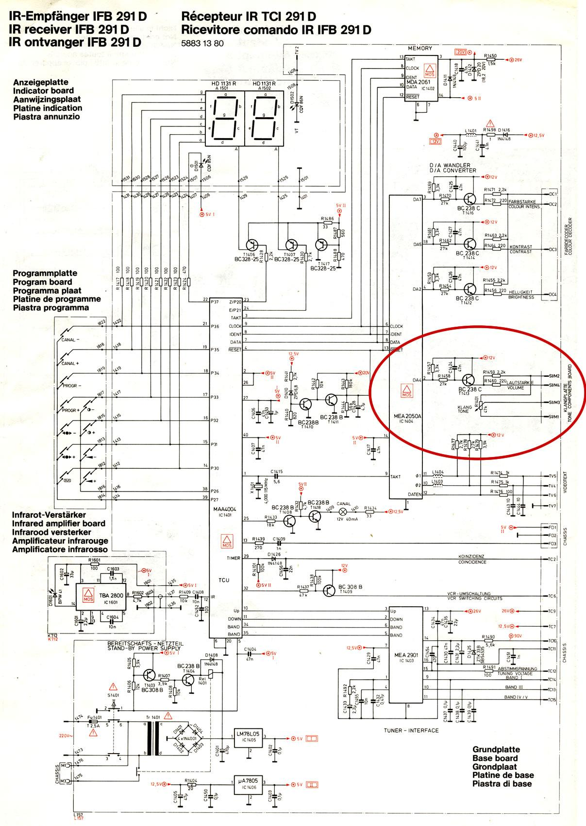 Schaltplan Antennendose Lichtschalter Beschriftung