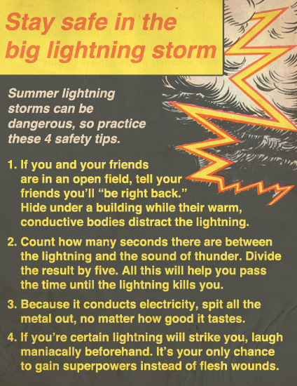 Stay Safe In The Big Lightning Storm