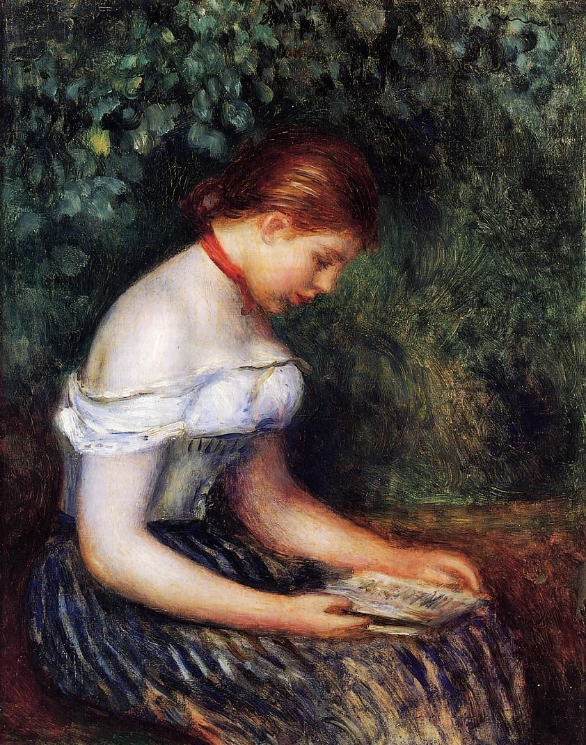 The Reader (Seated Young Woman), 1887. Pierre-Auguste Renoir (French, Impressionism, 1841-1919). Renoir is perhaps the best-loved of all the Impressionists, for his subjects - pretty children, flowers, beautiful scenes, above all lovely women - have...