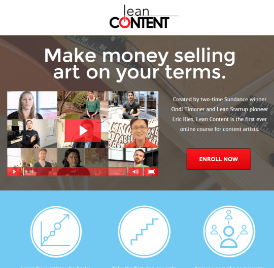 Eric Ries & Ondi Timoner of Lean Content's E Course