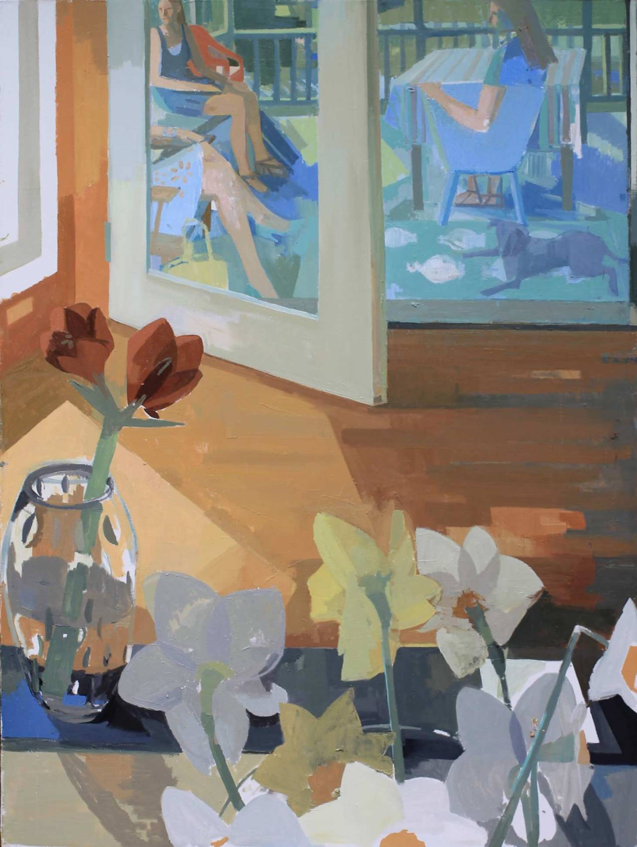 """urgetocreate:"""" Susan Lichtman, First Nice Day, 2013, Oil on Canvas, 60 x 45"""""""""""