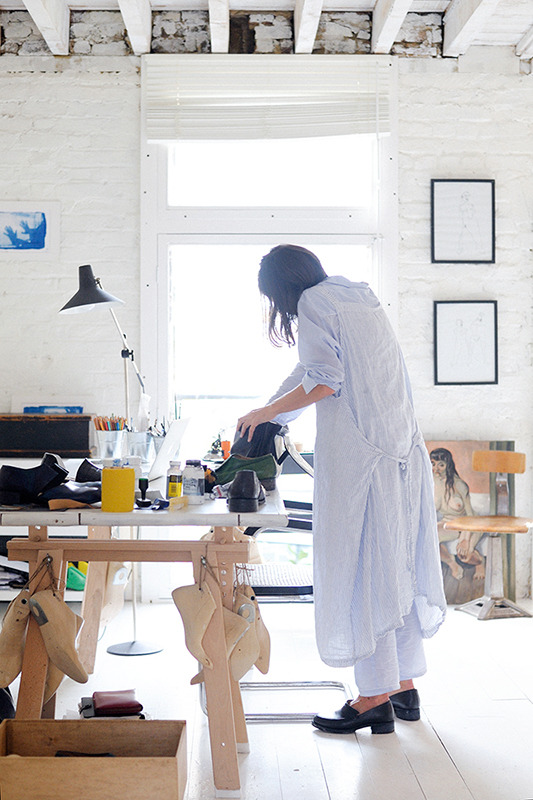 Victoria Andrejeva and the Cherevichkiotvichki studio in Hoxton, London for the new issue of This is Paper