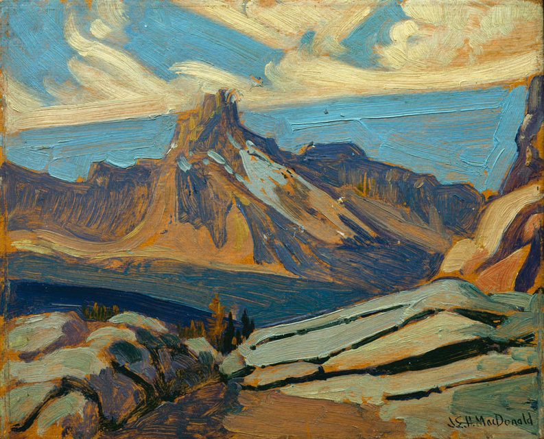 "igormaglica: "" James Edward Hervey MacDonald (1873-1932), Cathedral Mountain, 1927. oil on paperboard """