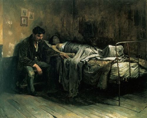 """Image result for La Miseria"""" (1886) by Cristobal Rojas."""