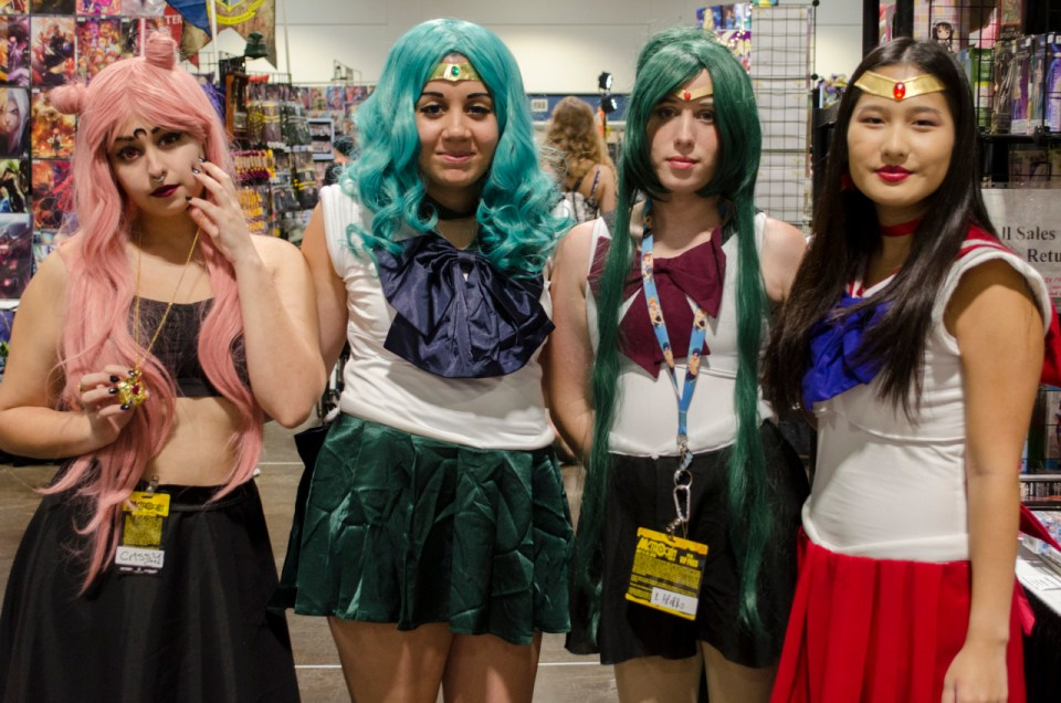 Metrocon 2016: Black Lady, Sailor Neptune, Sailor Pluto and Sailor Mars