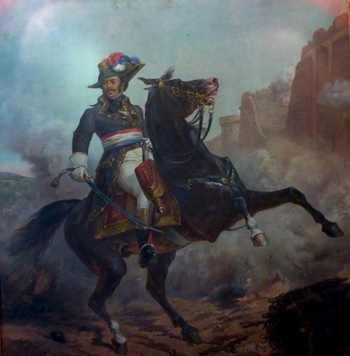 """1800s Week Olivier Pichat Général Thomas Alexandre Dumas (father of author Alexandre Dumas) France (c. 1790s, not dated) oil on canvas """"  Down the street from the statue of Alexandre Dumas, which stands in the place du Docteur Jean Mouflier, lies the..."""