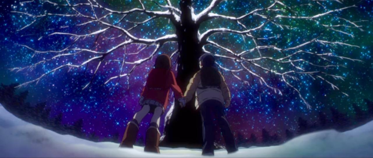 Image result for christmas scene anime