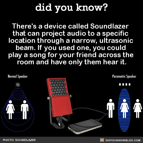 There's a device called Soundlazer that can project audio to a specific location through a narrow, ultrasonic beam. If you used one, you could play a song for your friend across the room and have only them hear it. Source