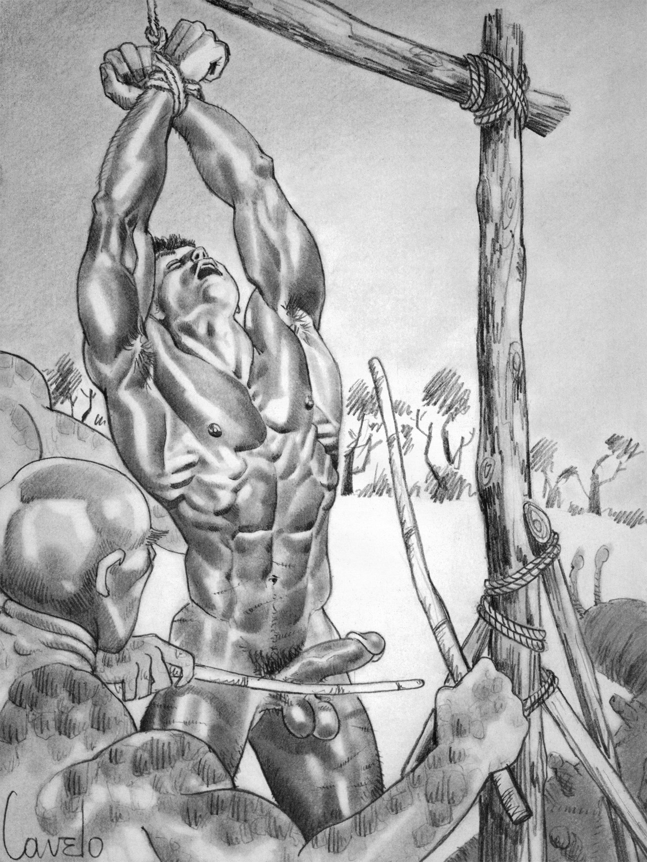 retrogaycavelo:  This is an image I scanned of an illustration...