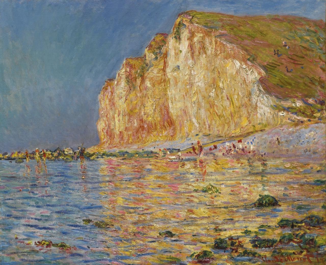 """artexpert:"""" Marée basse aux Petites-Dalles (1884) - Claude Monet"""""""