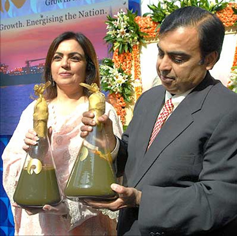 Nita Ambani carrying authentic Indian soil to be mixed with the soils of all other countries at the games.