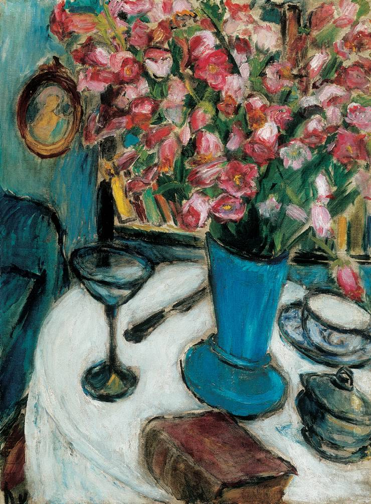 "herzogtum-sachsen-weissenfels: "" Dénes Valéria (Hungarian, 1877-1915), Still-life with Flowers, 1908-10. Oil on canvas, 83.5 x 61.5 cm. """