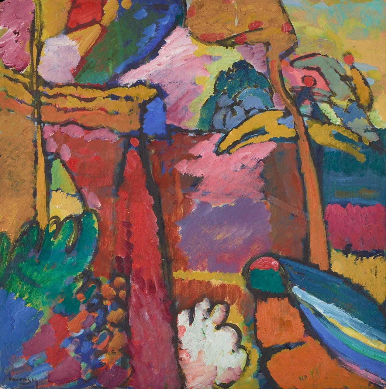 "thunderstruck9:"" Wassily Kandinsky (Russian, 1866-1944), Study for Improvisation V, 1910. Oil on pulp board, 70.2 × 69.9 cm."""