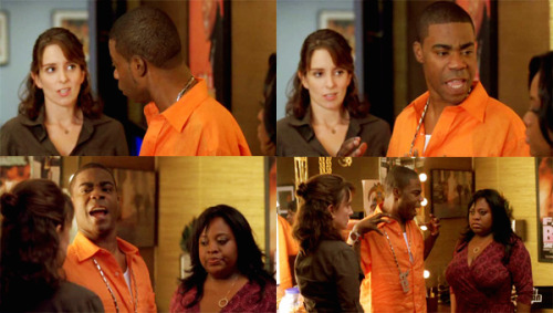 """ Tracy: Do I have to fix this situation? I am the immature one. But the both of you, you're forcing me to act like an adult. An adult! And even worse, you're making me stop two ladies from going at it! 02x03 The Collection """