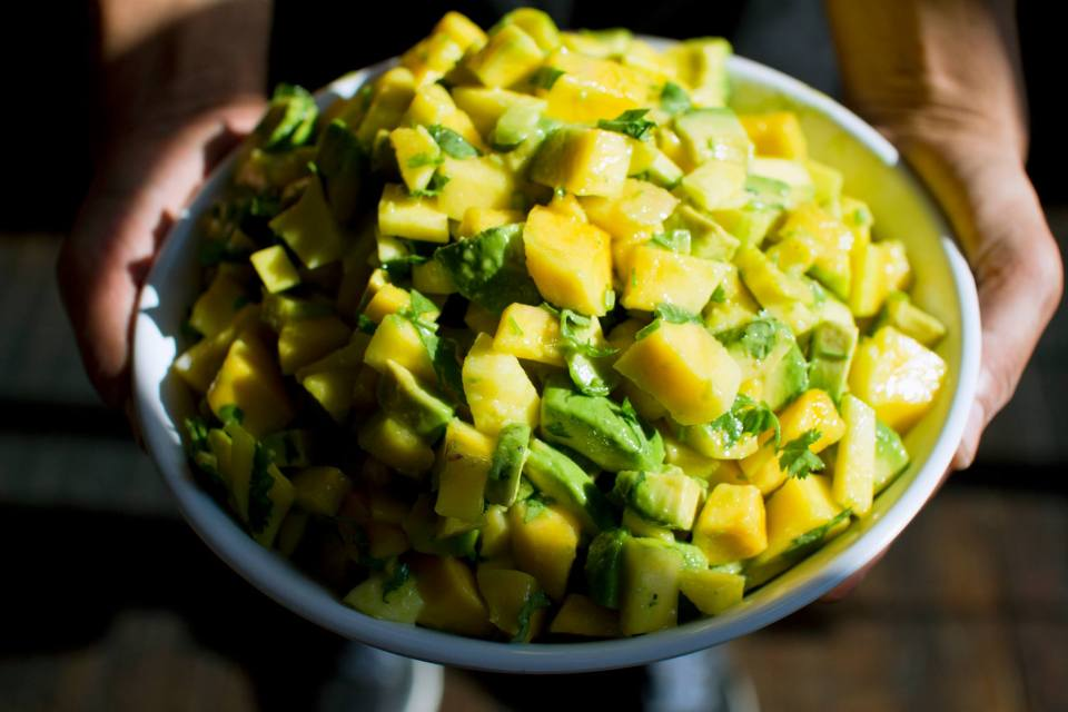 Our fan favorite Mango and Avocado Salad