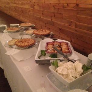 desserts at wedding