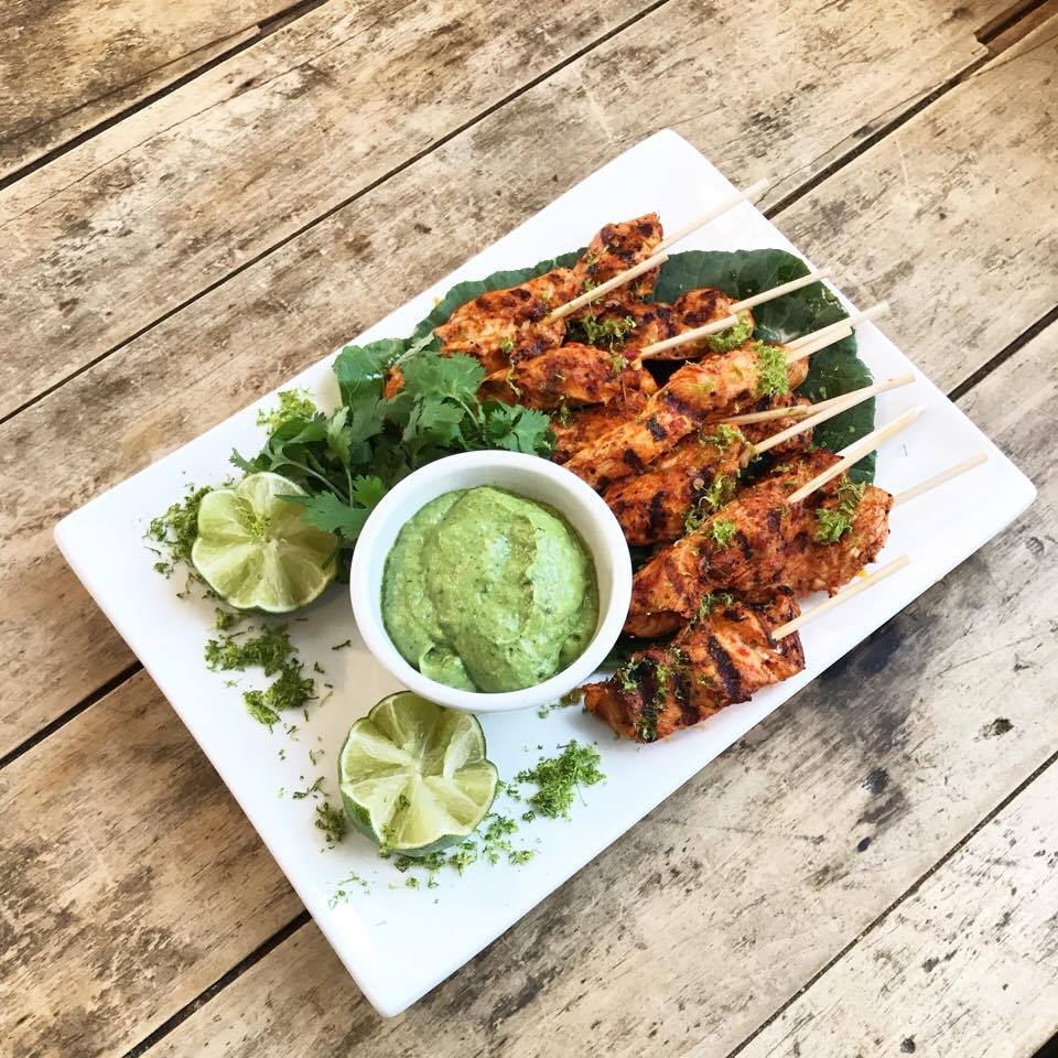 Picture of Chili Lime Chicken Skewers with Avocado Cream by 67 Biltmore Downtown Eatery and Catering