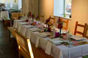 Picture of Gathering Room Dinner Setup by 67 Biltmore Downtown Eatery and Catering in Asheville, NC