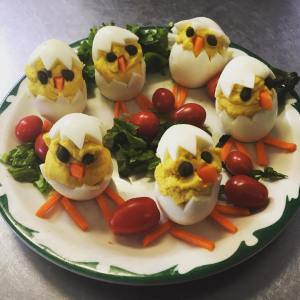 Picture of Easter Deviled Eggs by 67 Biltmore Downtown Eatery and Catering in Asheville, NC