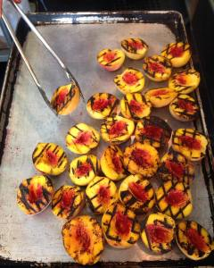 Picture of Grilled Local Peaches by 67 Biltmore Downtown Eatery and Catering in Asheville, NC
