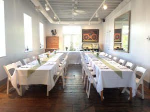 Picture of Gathering Room Table Setup by 67 Biltmore Downtown Eatery and Catering in Asheville, NC