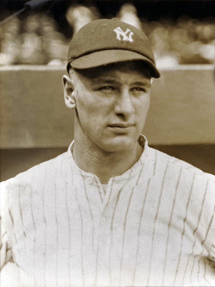 Lou Gehrig during his MLB rookie year