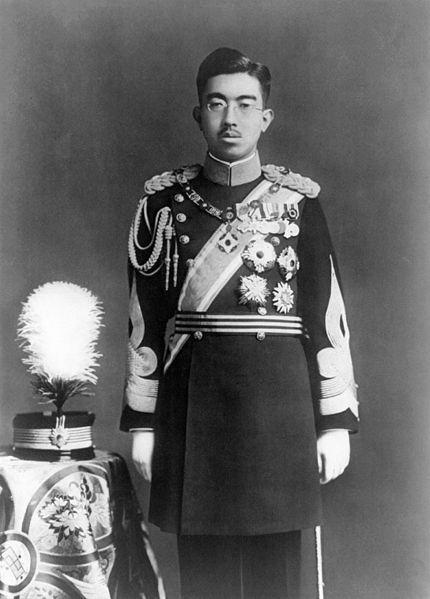 Hirohito in dress uniform