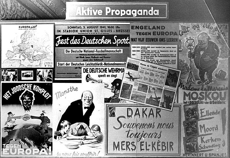 ベルギーにおける宣伝部門の活動展示、1941年12月/1942年1月。