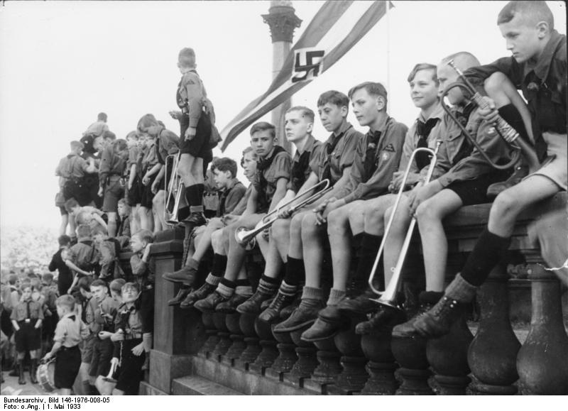 ヒトラーユーゲントの隊員(1933年5月)