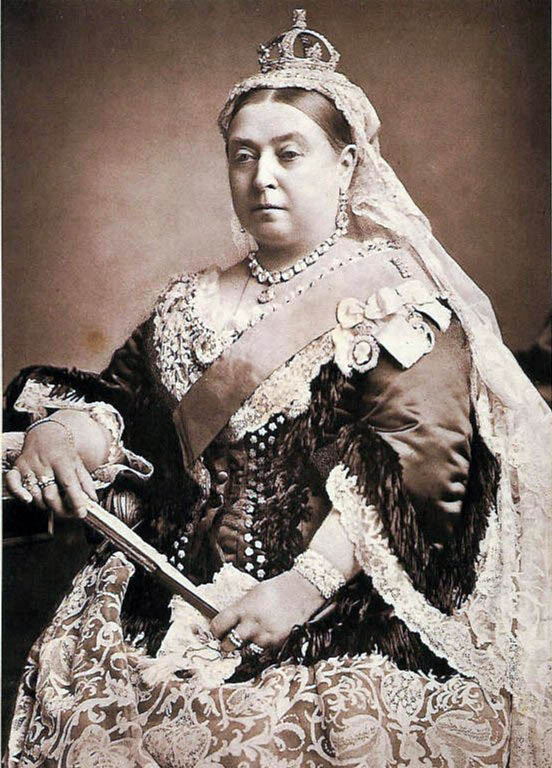 Portrait of Queen Victoria of England, Empress Victoria of India