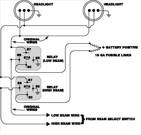 relay_headlight_circuit_schematic?resize=486%2C465 basic wiring diagram for car lights wiring diagram,Basic Relay Switch Wiring Diagram