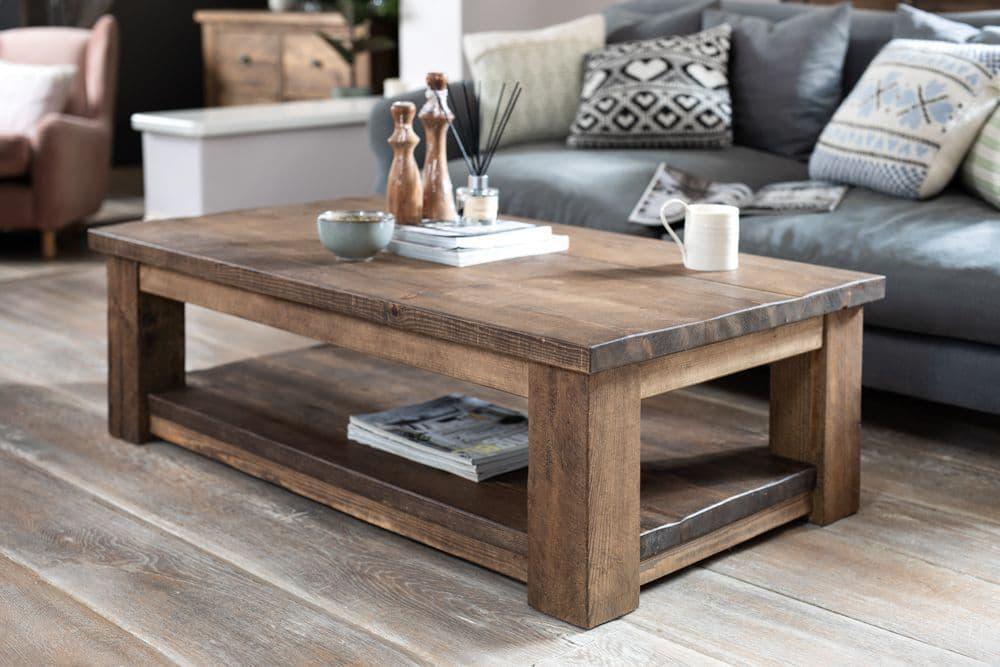coleridge coffee table with shelf
