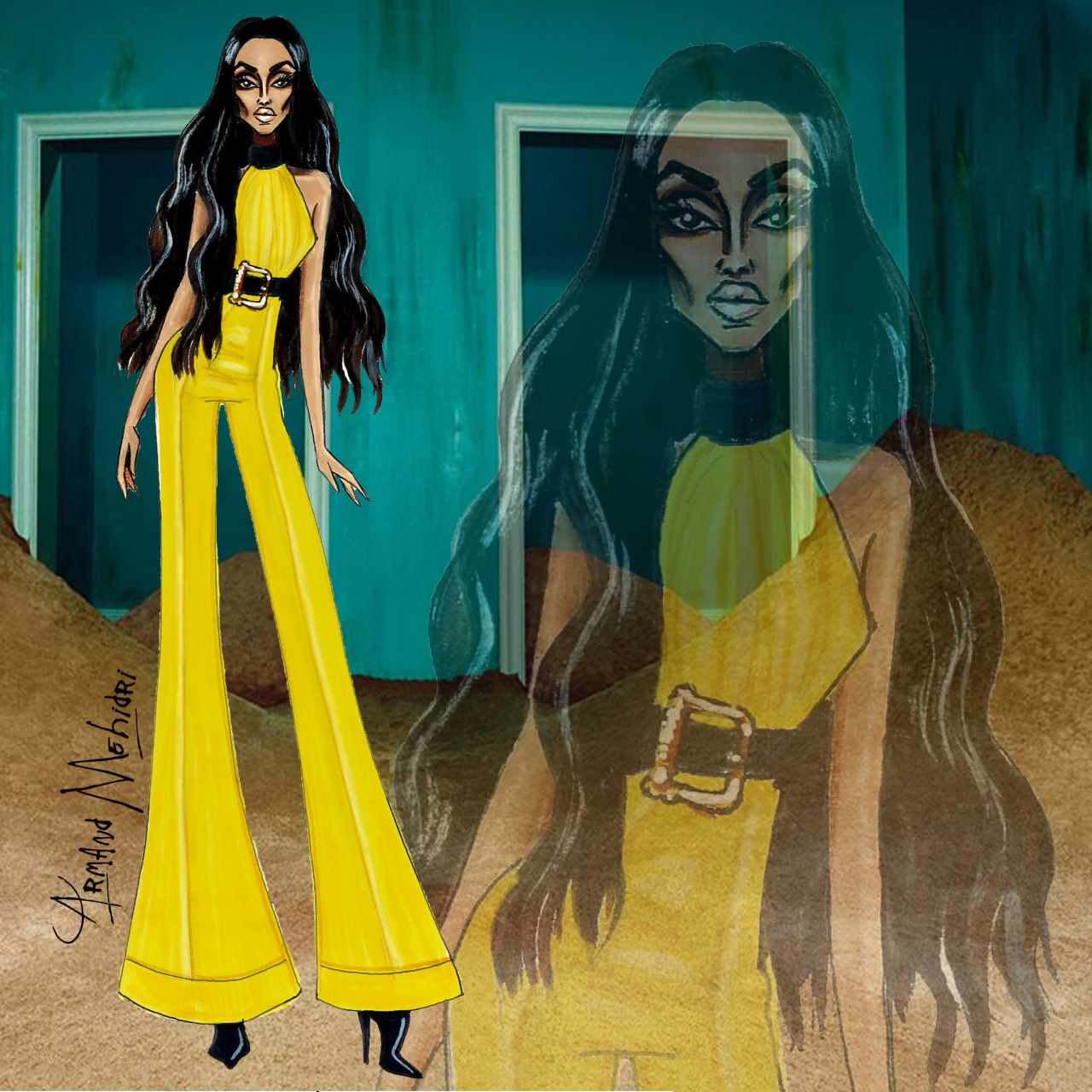 Image result for ciara outfits illustration