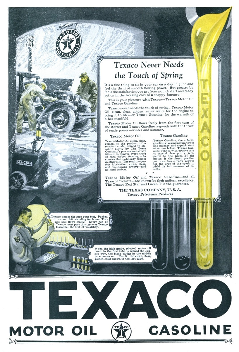 Texaco - published in The Literary Digest - January 16, 1926