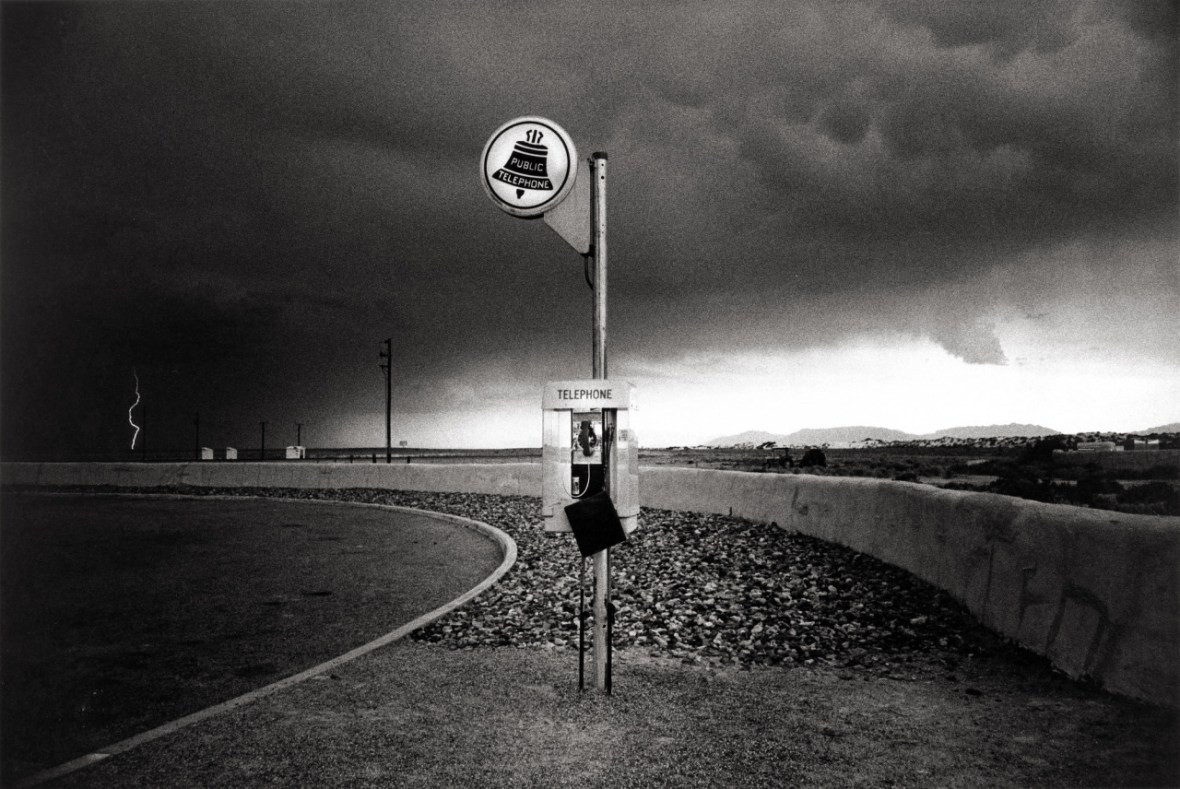 'Highway Telephone and Lightning, New Mexico' - photographed by Ikkō Narahara - 1972