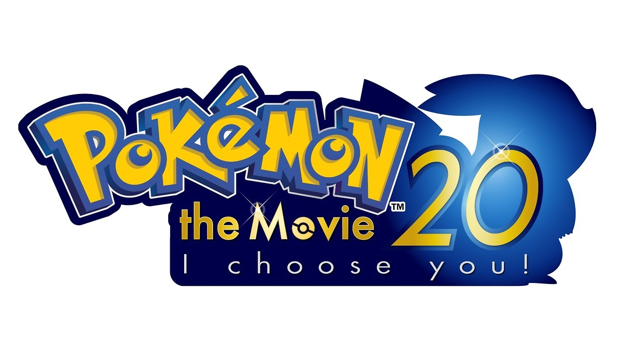 "Pokemon 20th Movie ""Pokemon, I Choose You"" title logo; opens July 15th."