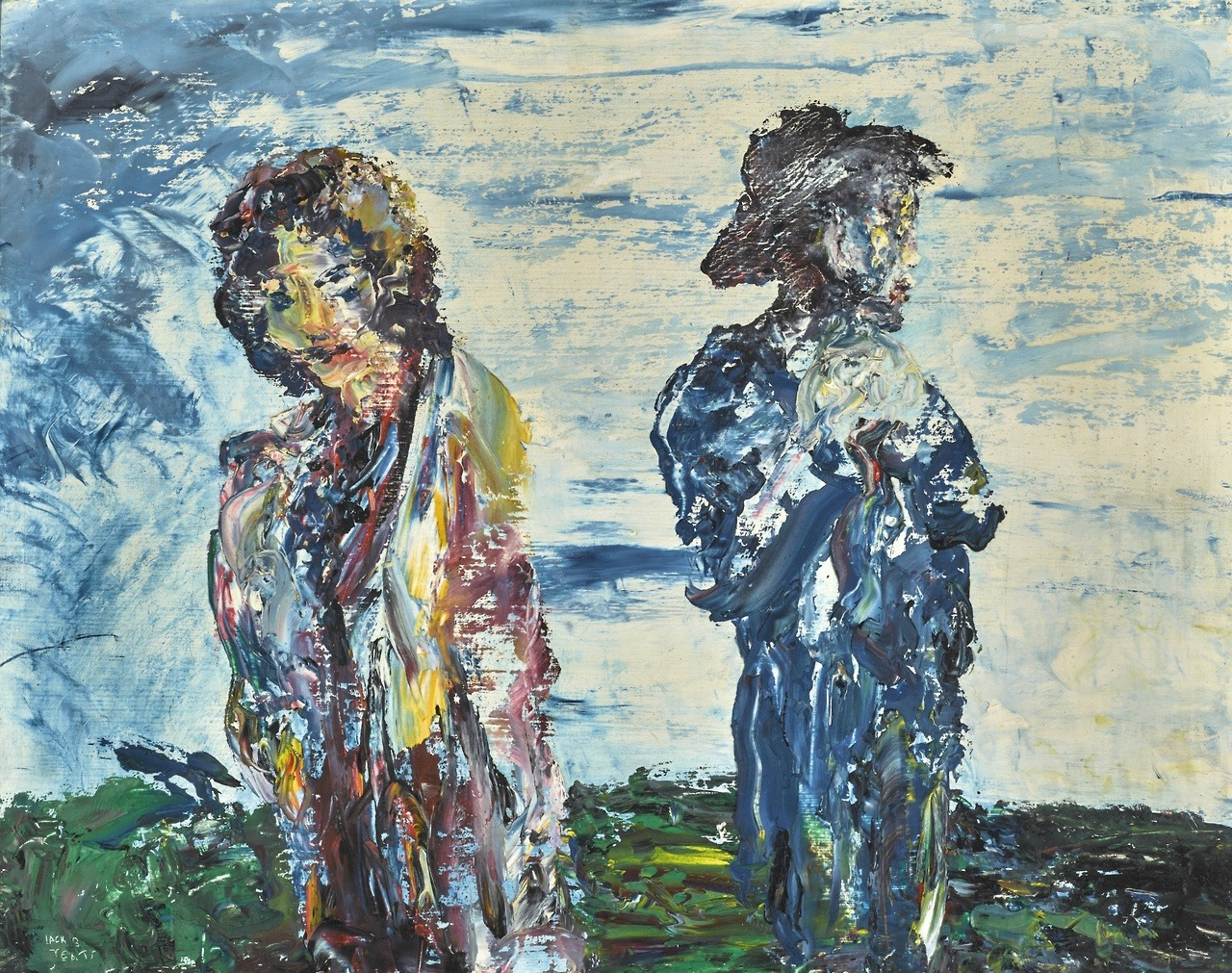 "thunderstruck9:""Jack Butler Yeats (Irish, 1871-1957), The Sunset Belongs to You. Oil on board, 14 x 18 in."""