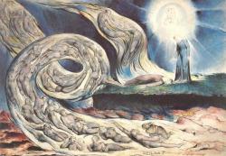 magictransistor:  William Blake. Illustrations of Dante, The Circle of the Lustful Francesca Da Rimini, Canto 5. 1827.