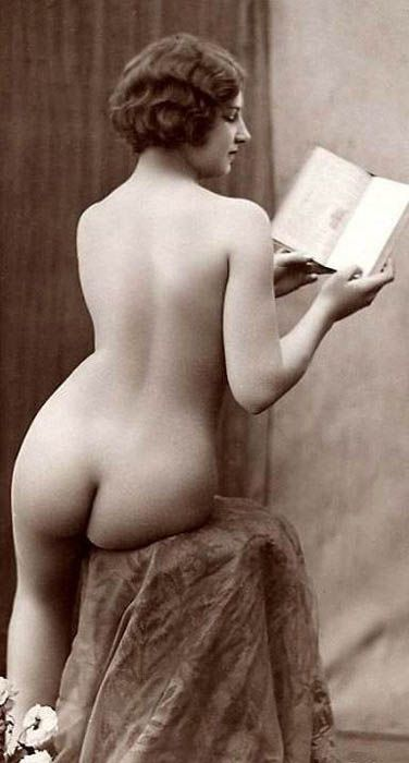 Beautiful reader (of erotica?)