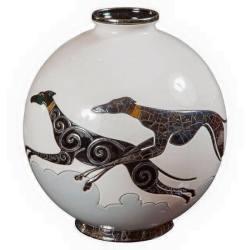 kittyinva:Kittyinva: 1920′s Levriers vase by Danello Curetti for Longway. From Art Deco, FB.