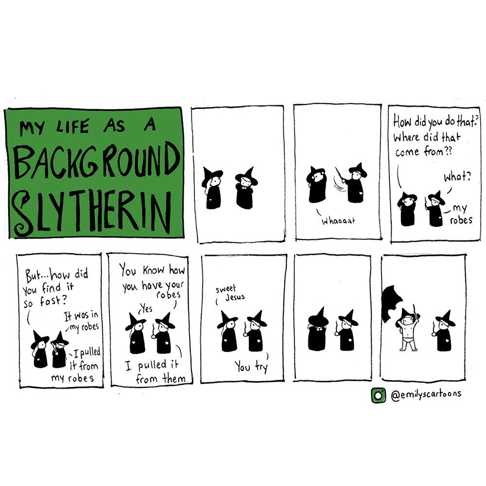 Emilys Cartoons Background Slytherin Part I The Story