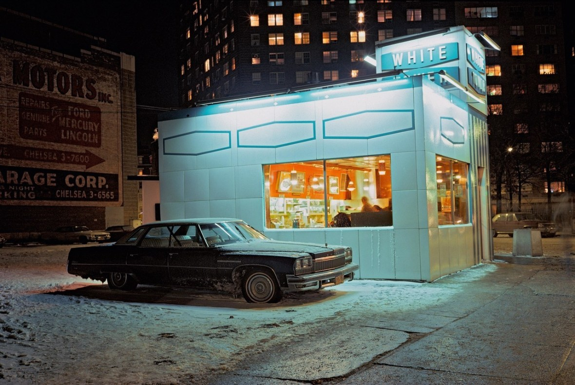 White Tower - Meatpacking District, New York City, New York U.S.A. - 1976 - photograph by Langdon Clay