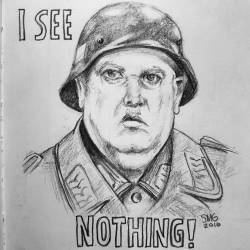 I see nothing! #doodles #drawing #pencildrawing #drawdrawdraw #illustration #journal #perthcreatives #perthartist #hogansheros #schultzy #60stvshow #johnbanner